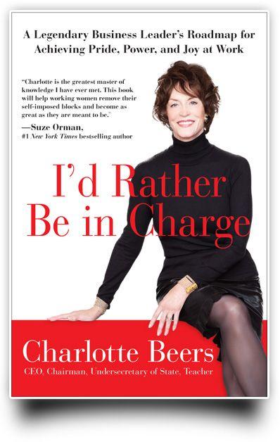 Шарлотта Бирс на обложке своей книги «Лучше этим займусь я» (I'd Rather Be in Charge), фото